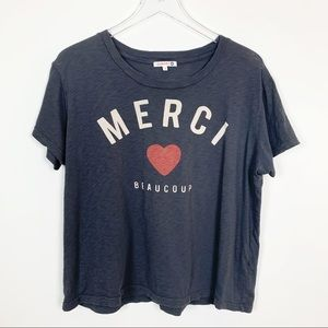 "Sundry | ""Merci Beaucoup"" Graphic Tee"
